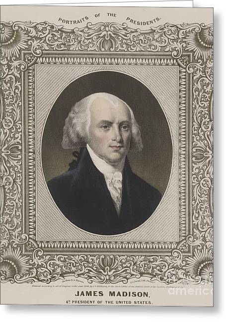 James Madison, 4th U.s. President Greeting Card by Science Source