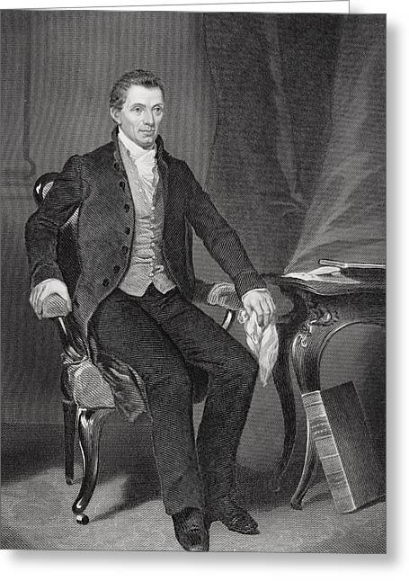 James Monroe 1758-1831. Fifth President Greeting Card by Vintage Design Pics