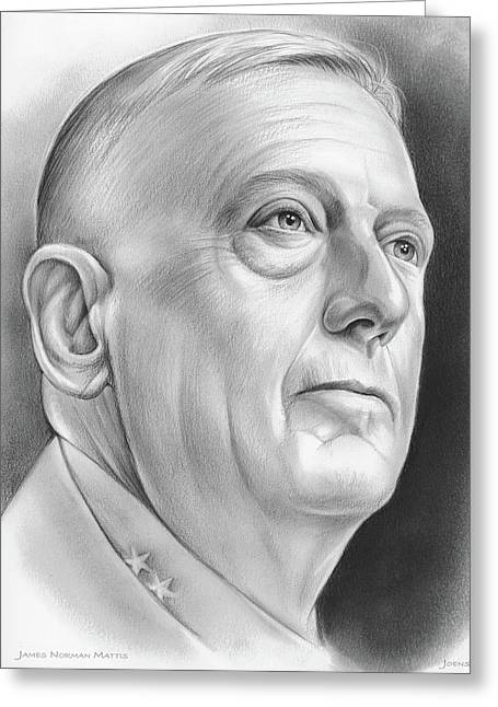 James Norman Mattis Greeting Card by Greg Joens