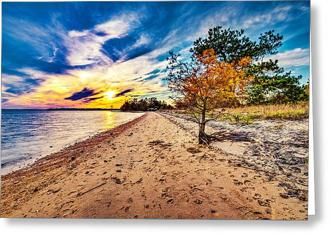 James River Sunset Greeting Card