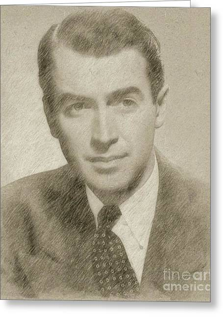 James Stewart Hollywood Actor Greeting Card by Frank Falcon