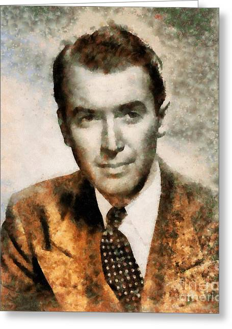 James Stewart Hollywood Actor Greeting Card by Sarah Kirk