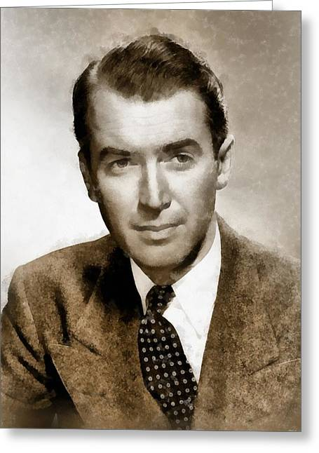 James Stewart Hollywood Icon By John Springfield Greeting Card