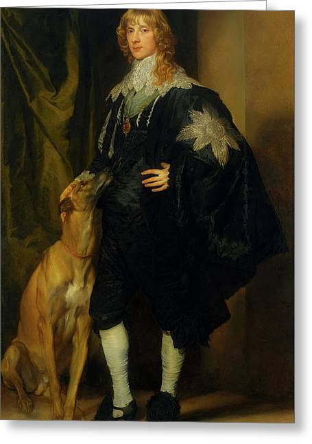Greeting Card featuring the painting James Stuart - Duke Of Richmond And Lennox                       by Anthony Van Dyck