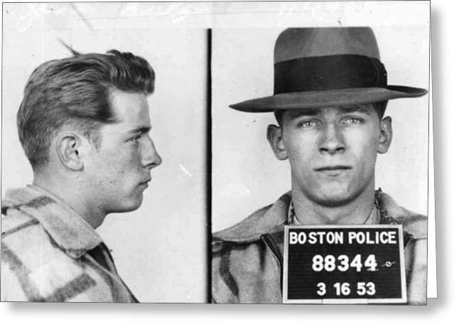 James Whitey Bulger Mug Shot 1953 Horizontal Greeting Card