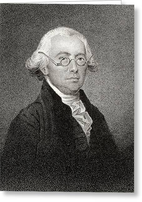 James Wilson 1742 To 1798 American Greeting Card by Vintage Design Pics