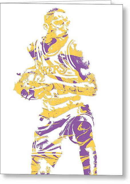 James Worthy Los Angeles Lakers Pixel Art 5 Greeting Card