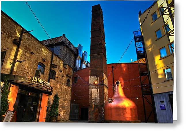 Factory Greeting Cards - Jameson Distillery Greeting Card by Justin Albrecht