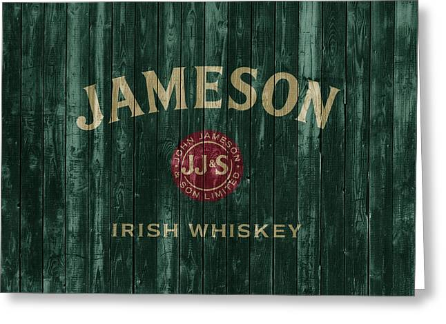 Jameson Irish Whiskey Barn Door Greeting Card