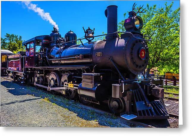 Jamestown Sierra No 3 Steam Train Greeting Card