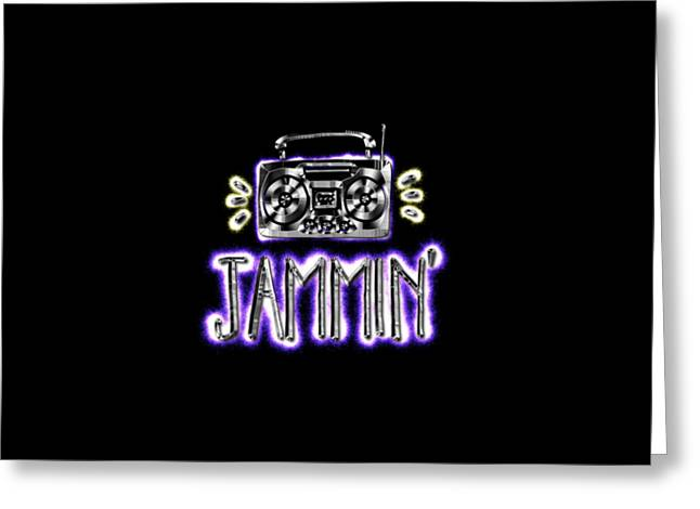 Jammin' Greeting Card by Terry Weaver
