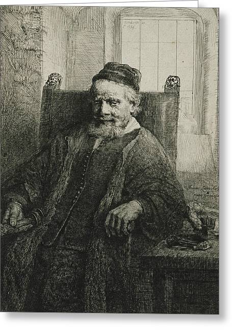 Jan Lutma, The Elder, Goldsmith And Sculptor Greeting Card by Rembrandt
