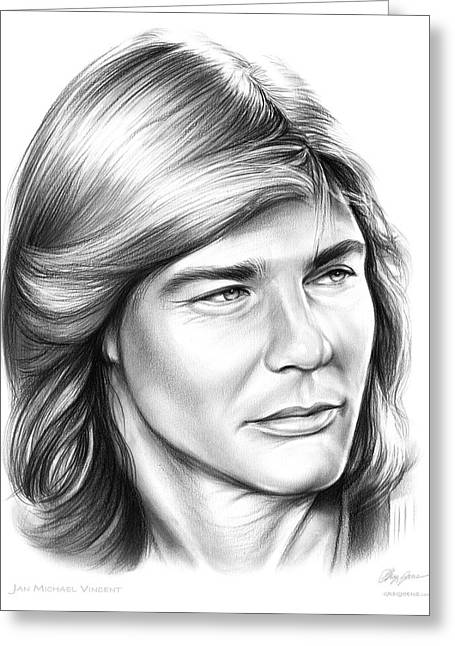 Jan Michael Vincent Greeting Card by Greg Joens