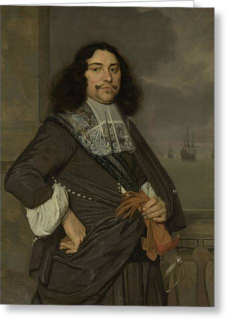 Jan Vice Admiral Of Holland And West 1666 Greeting Card by Celestial Images
