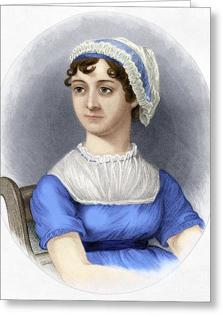 Greeting Card featuring the photograph Jane Austen by Granger