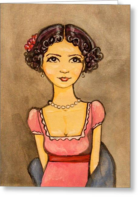 Jane Austen Greeting Card by Ramey Guerra
