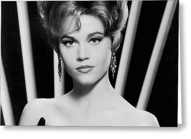 Jane Fonda 1963 Greeting Card by Mountain Dreams
