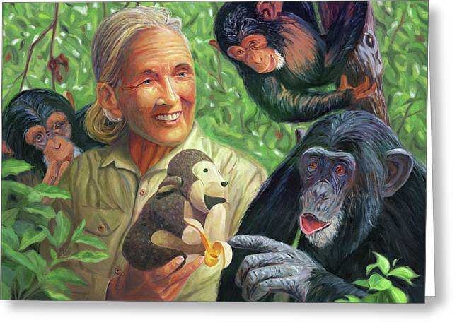 Jane Goodall Greeting Card