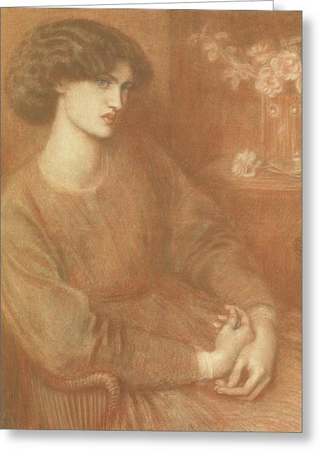 Jane Morris Greeting Card by Dante Gabriel Charles Rossetti