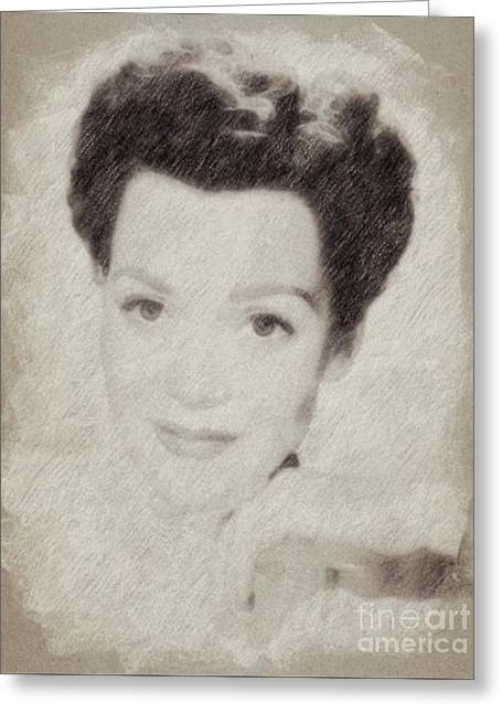 Jane Wyman, Actress Greeting Card by Frank Falcon