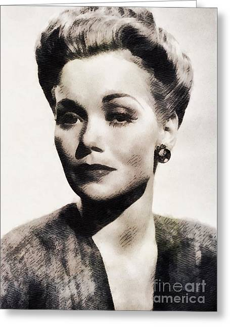 Jane Wyman, Vintage Actress By John Springfield Greeting Card