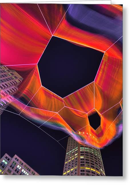 Janet Echelman Sculpture - Boston Greeting Card by Joann Vitali