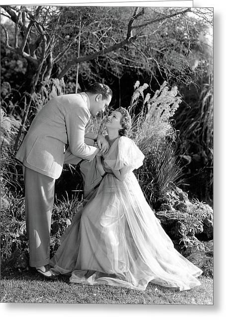 Janet Gaynor  Fredric March A Star Is Born 1937 Greeting Card by David Lee Guss