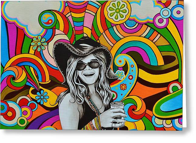 Janis In Wonderland Greeting Card by Joseph Sonday