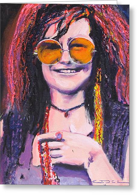 Janis Joplin 2 Greeting Card