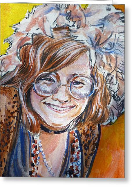 Janis Joplin Greeting Card