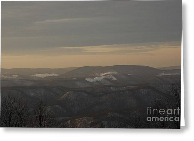 January Evening Greeting Card by Randy Bodkins