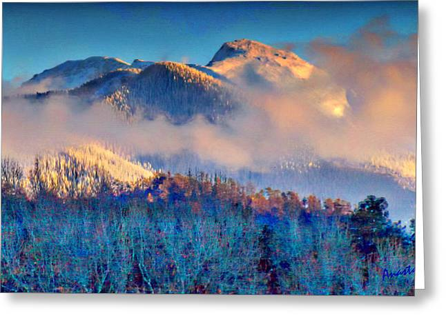 January Evening Truchas Peak Greeting Card