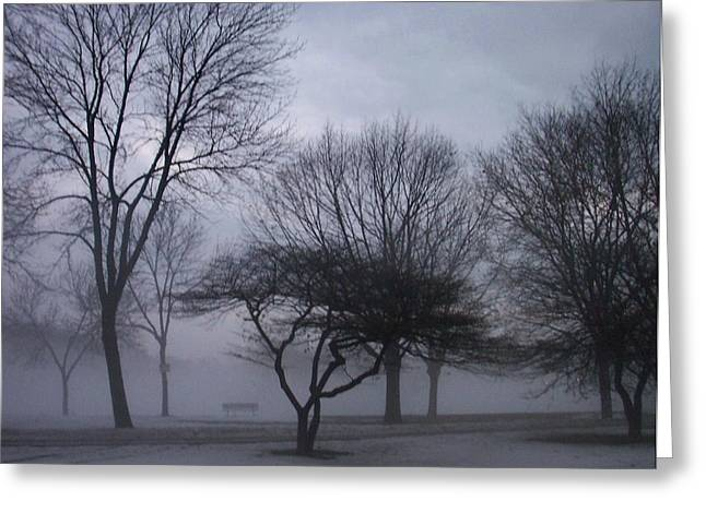 January Fog 6 Greeting Card