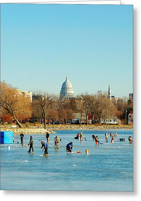 January Ice Greeting Card by Todd Klassy