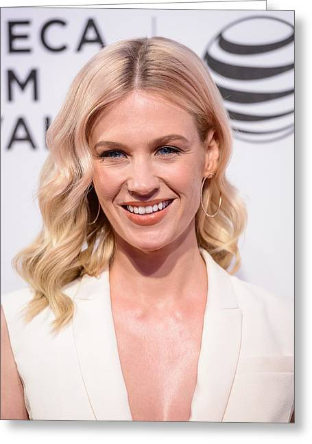 January Jones Portrait Greeting Card by SartorialPhotos Wire Service