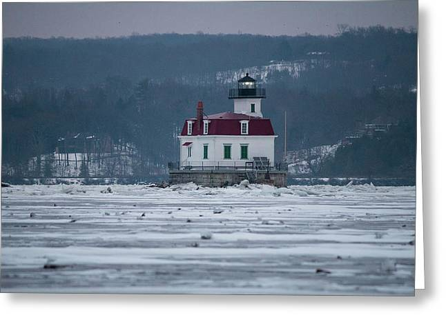 January Morning At Esopus Light Greeting Card