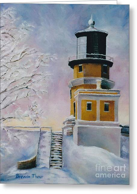 Januarys Light Greeting Card by Brenda Thour