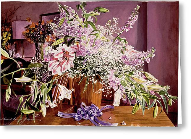 Japan Flowers Greeting Card