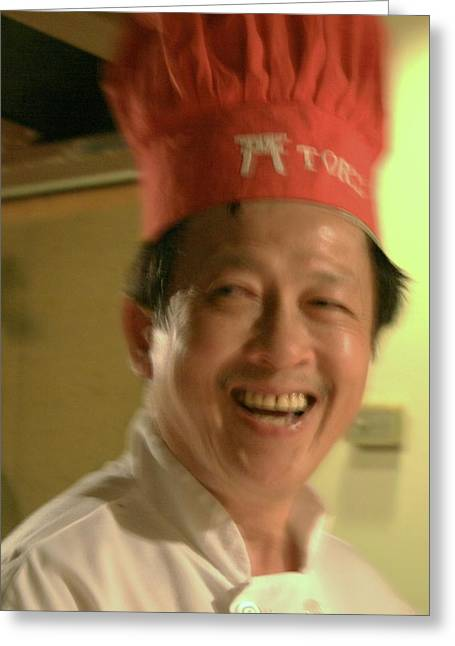 Japanese Chef Greeting Card by Joshua Sunday