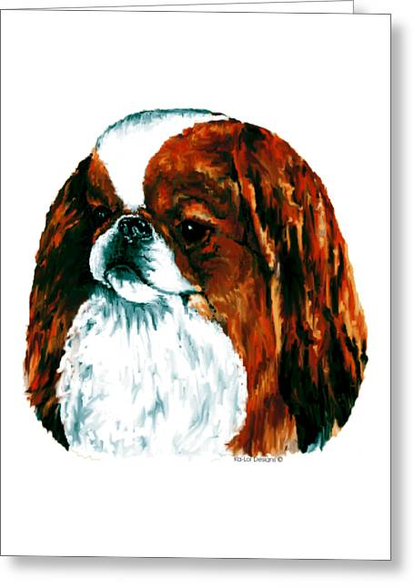 Japanese Chin, Sable Greeting Card
