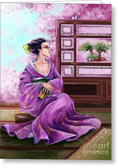 Japanese Fashion Greeting Card by Sofia Malkhasian