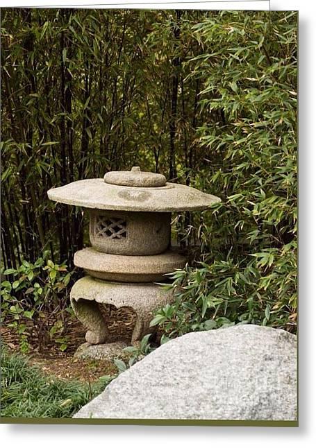 Japanese Friendship Garden 4 Greeting Card by Marta Robin Gaughen
