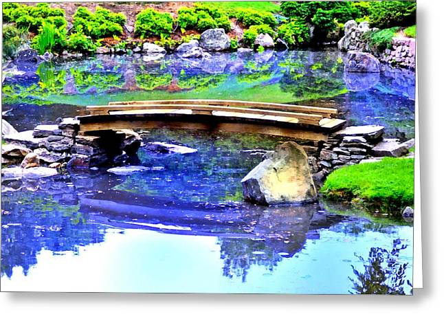 Japanese Garden Greeting Card by Bill Cannon