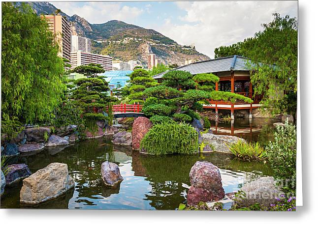 Japanese Garden In Monte Carlo Greeting Card by Elena Elisseeva