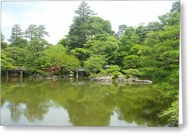 Japanese Garden Ix Greeting Card by Wendy Uvino