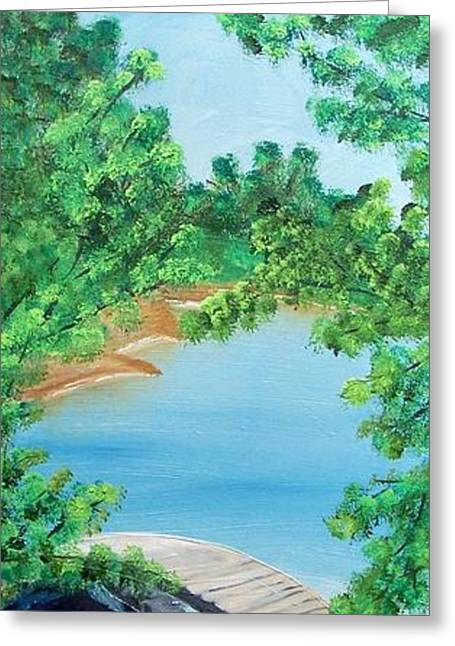 Japanese Garden Greeting Card by Kathern Welsh