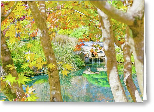 Japanese Garden Pond Greeting Card