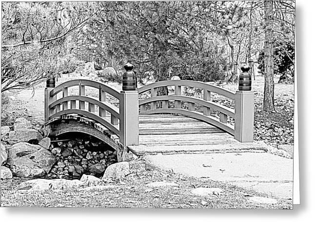 Greeting Card featuring the photograph Japanese Garden by Rodney Campbell