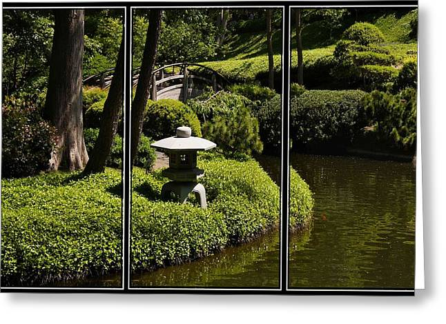 Japanese Garden Triptych Greeting Card
