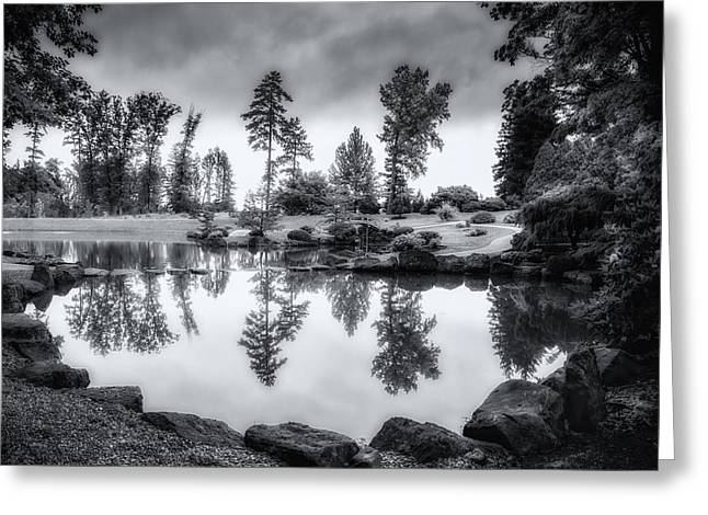 Japanese Gardens - Dawes Arboretum Greeting Card by Tom Mc Nemar